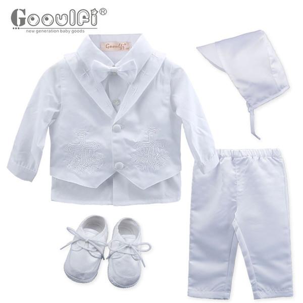 Großhandel Gooulfi Baby Jungen Kleidung Sets Taufe Baby 6 Stück Kleidung Neugeborene Kleidung Junge 0 3 Gentelman Taufe Von Babyeden 4261 Auf