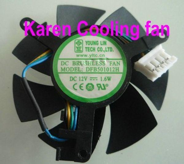 top popular New Original YOUNG LIN DFB501012H graphics card cooling fan 12V 1.6W dual ball bearing cooling fan 2021