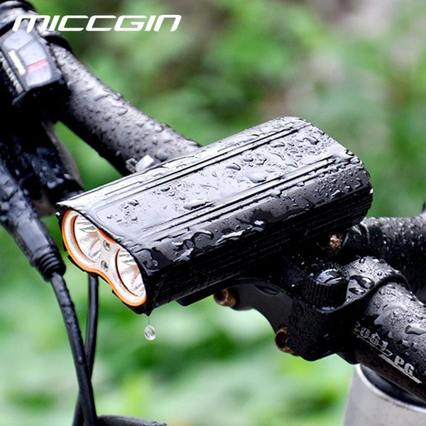 T6 Bicycle Front Highlight Waterproof Headlight USB Rechargeable Cycling Light