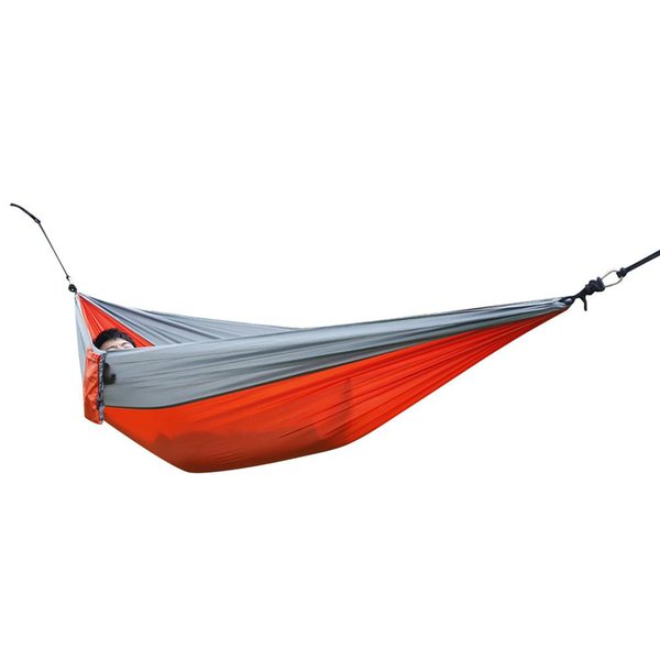 Double Person Hammock Portable Outdoor Nylon Parachute Fabric Garden Camping Sports Garden Hang Bed For Enjoin Life