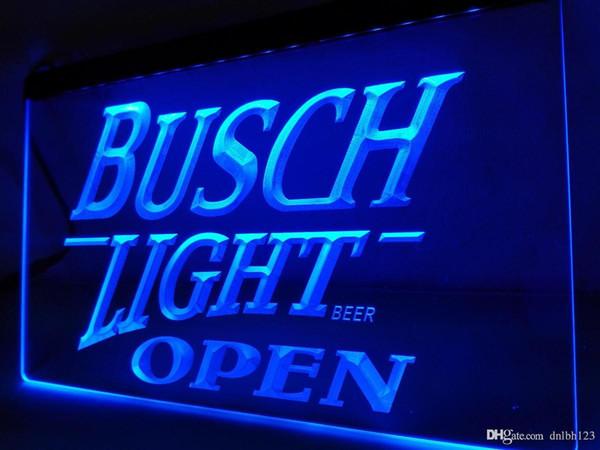 LA044b-Busch Light Beer OFFENE Bar LED Neonlicht-Zeichen