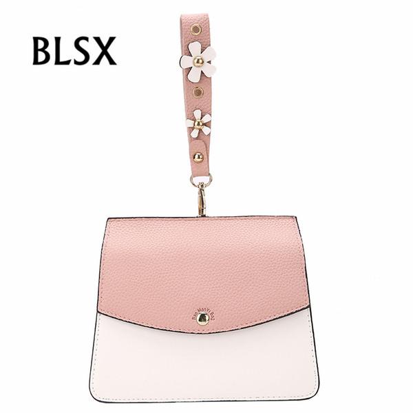 Heißer Verkauf Mode Frauen Handtaschen Dame Kleine rosa blaue Farbe PU Leder Messenger Bags Für Teenager Mädchen Schulter Crossbody Taschen