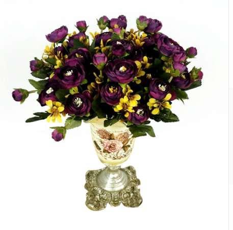 Canlı 6 Dalları Yapay Sahte Şakayık Çiçek Vecize Otel Odası Düğün Ortanca Dekor Düğün Dekorasyon Yapay Çiçekler