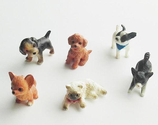 top popular Simulation Lovely Pet Mini Animals Cat Dog Decoration Animal PVC Figures Toys Cute Puppy Kids Toys Dolls 2020