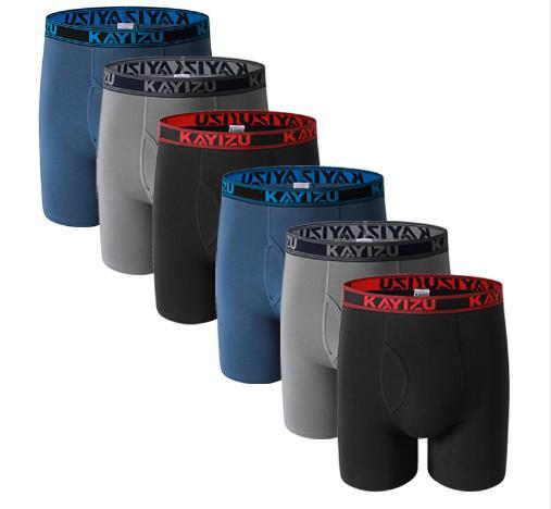 6pcs \Lot Cotton Boxers Men Underwear Soft Boxer Shorts Solid Men Underpant Plus Size Comfortable Male Panties Cueca