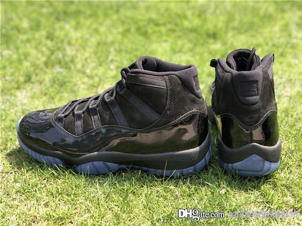 705946117d2 2018 HOT Cap And Gown 11 Prom Night Blackout 11S Basketball Shoes Sneakers  For Men Authentic