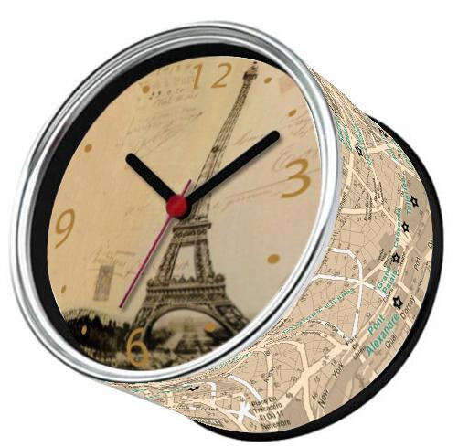 Solo 9-15 giorni arrivano in Francia da E-Packet Air spedizione gratuita 2 pz / lotto Parigi orologio torre eiffel magneti frigo orologio da parete regali