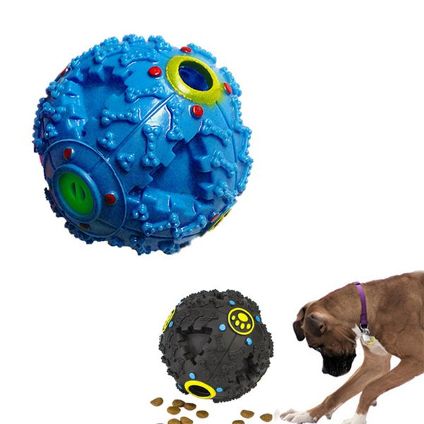 best selling 2018 Dog Toys Pet Puppy Sound ball leakage Food Ball sound toy ball Pet Dog Cat Squeaky Chews Puppy Squeaker Sound Pet Supplies Play