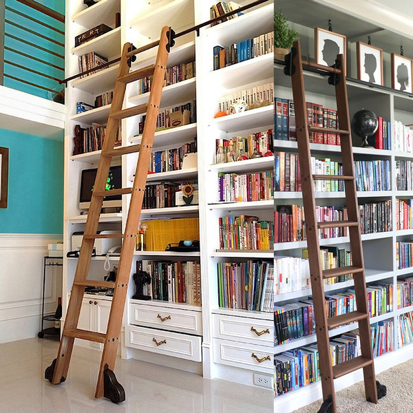 best selling KINMADE SERENE Rolling Ladder Hardware Library Sliding Ladder Hardware Kit with 39'' (1000mm) Round Track Rail