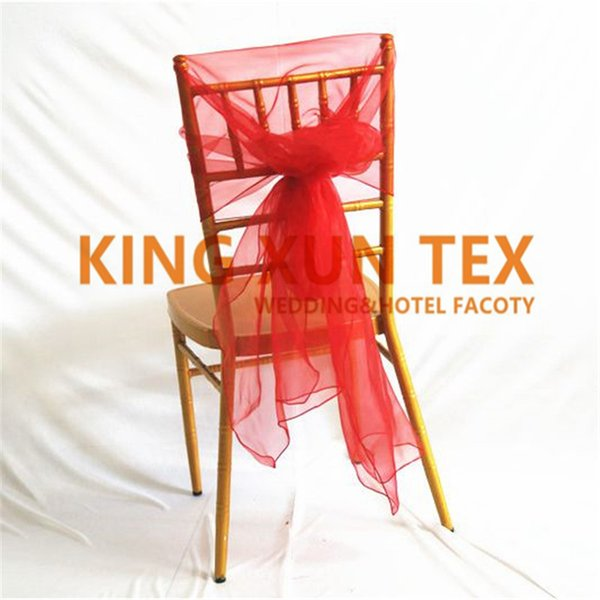 100pcs Lot Chiavari Organza Chair Sash \ Chair Hood For Banquet Wedding Decoration