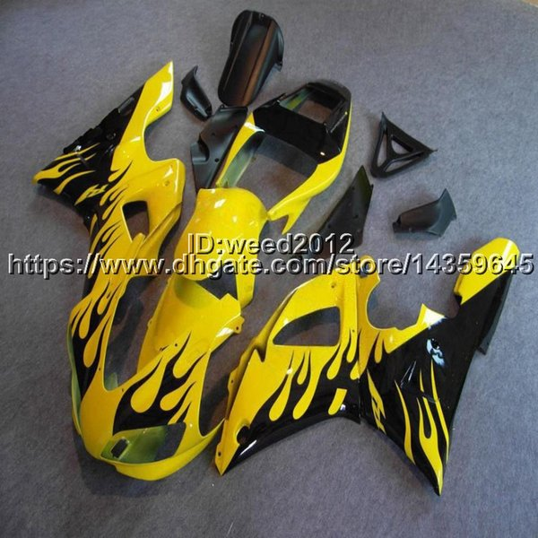 23colors+5Gifts yellow motorcycle body kit for Yamaha YZF-R1 1998-1999 YZF R1 1998-1999 ABS Plastic bodywork Fairings