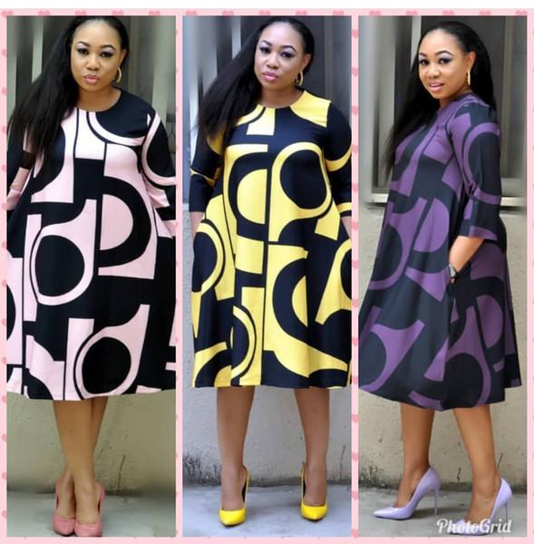 best selling New style African Women clothing Dashiki fashion Print cloth dress size L XL XXL XXXL FH225