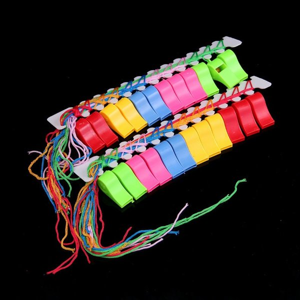 Children Colorful Plastic Whistle Word Cup Football Games Whistle Football Loud Noise Maker Cheerleading Loudspeaker for Soccer Fans