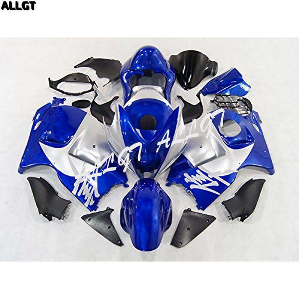 Kit de carenados para carrocería de la motocicleta negra cromada mate azul Fit Suzuki GSXR1300 Hayabusa Gen 1st 1999 - 2002 2003 2004 2005 2006 2007