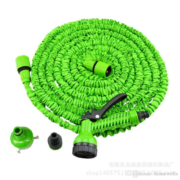 top popular 3X Expandable Magic Flexible Water Hose with 7in1 Spray Gun Nozzle 25FT 50FT 75FT 100FT 125FT Irrigation System Garden Hose Water Gun Pipe 2021