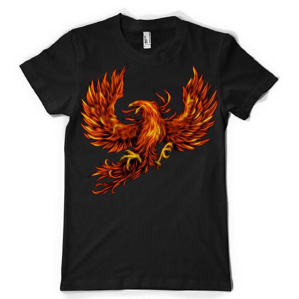 Bird fenix fire fly mythology mashup mens ladies kids tshirt tee dtg Printed T Shirt Short Sleeve Men