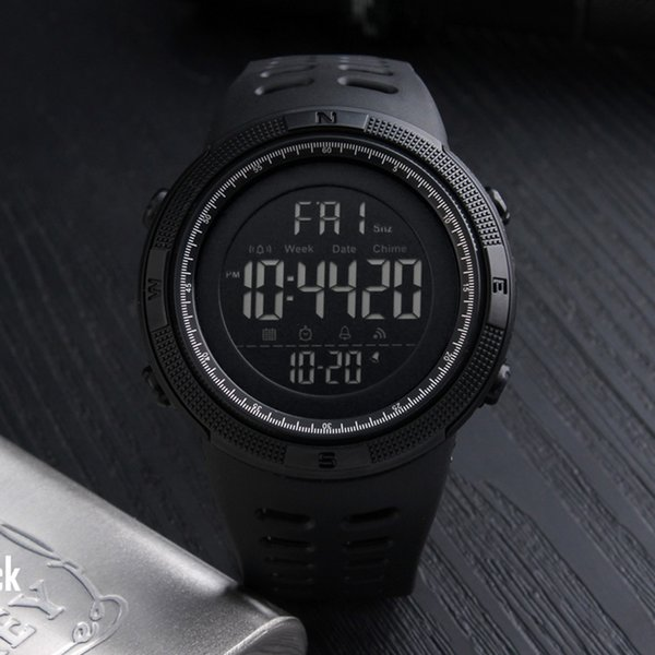 Men's Waterproof Sports Watches Countdown Double Time Date Watch Alarm Chrono Digital Wristwatches Male LED Digital Clock 2018