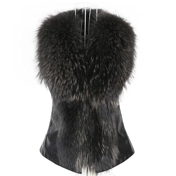 NEW Women's Faux Fur Vest Jacket Sleeveless ladies Winter Body Warm Coat Waistcoat Gilet Cardigan woman vests 2018 DROPSHIPPING