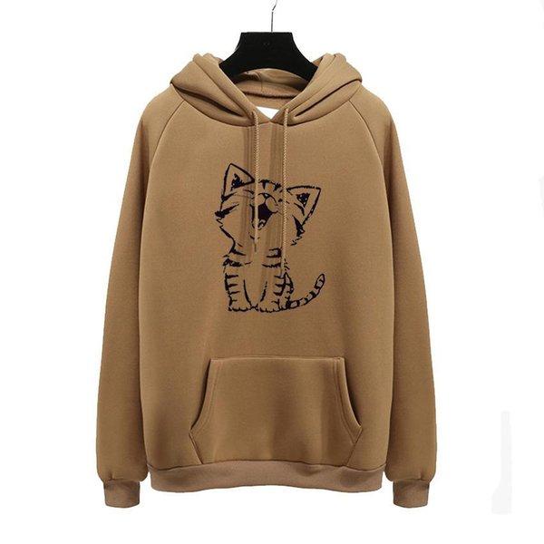 Sudadera con capucha Camel
