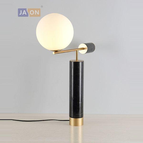 Light Led Lamp table Gold led desk 14 Iron Glass Nordic Bedroom Black G4 For Youerlamp484 Marble Lamp Lamp 2019 Desk From rodBWCxe