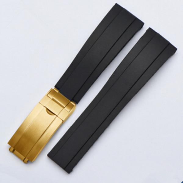 Cinturino in gomma siliconica 20mm per cinturini Rolex YachtMaster cinturini per orologi