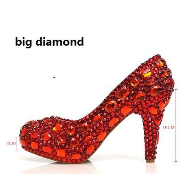 Red 10cm big diamond