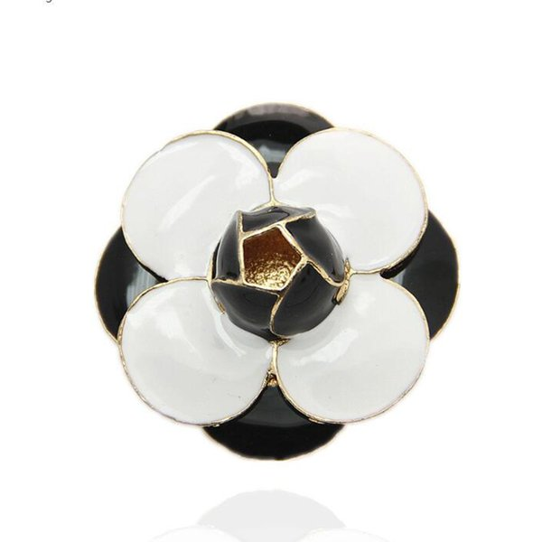 10Pcs Fashion Brooch Black White Flowers Brooches Wedding Personality Pin Brooches for woman Jewelry Hot Sale In Stock