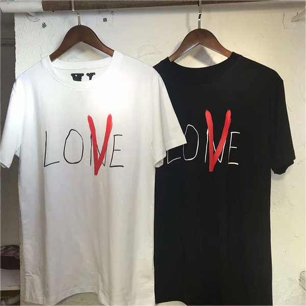 a2a792319 T-shirts High Quality Casual Boy Girl Lovers T Shirt Red V Top Tees 18  Fashion Cotton Couple Friends