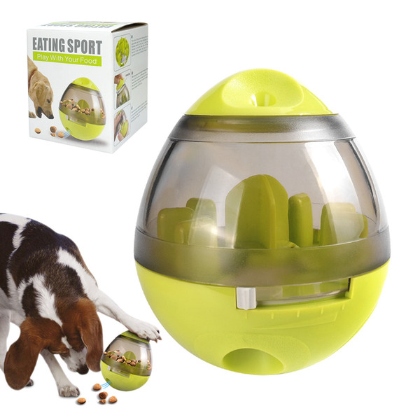 Dog Cat IQ Food Ball Toy Interactive Pet Toy Smarter Dogs Food Balls Treat Dispenser For Dogs Cats Playing Training