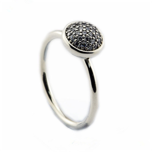 Compatible with Pandora jewelry ring silver Dazzling Droplet Clear CZ rings 100% 925 sterling silver jewelry wholesale DIY For Women