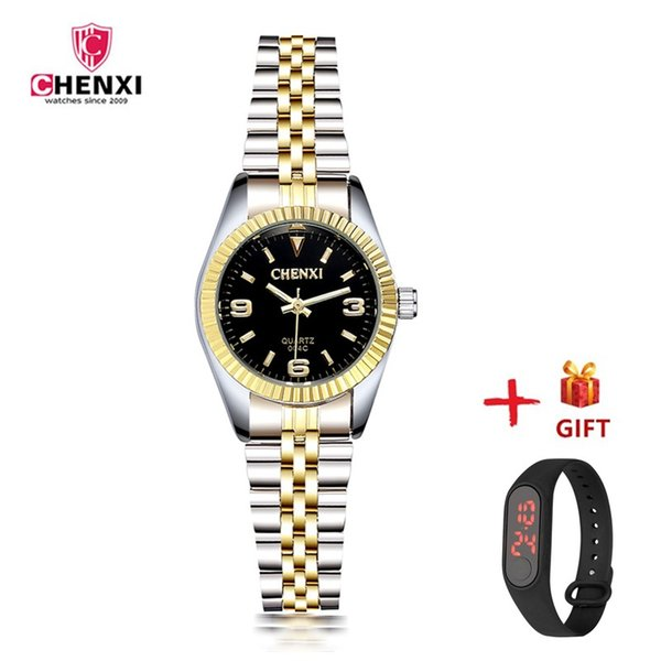 Luxury Designer Women's Watch Stainless Steel Bracelet Quartz Wrist Watches Female Dress Watch Small Black Golden Girls Clock PJ