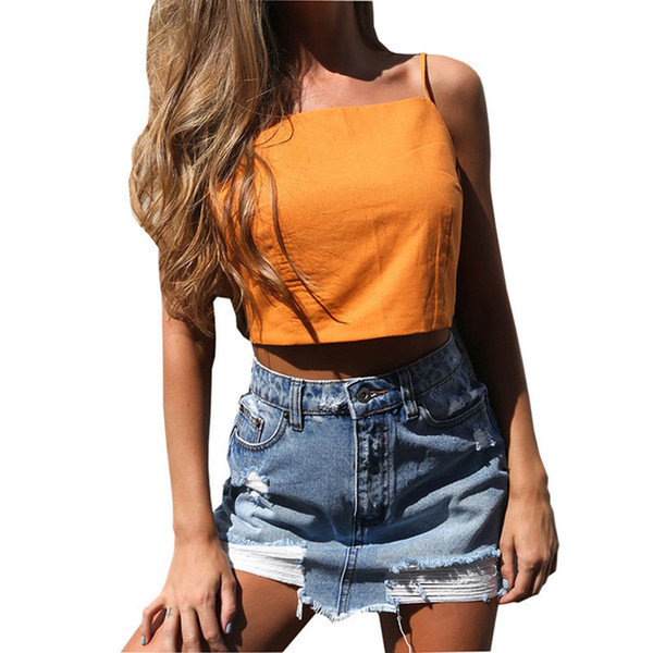 Fashion Casual Summer Women Ladies Cotton 2 Style Sleeveless O-Neck Pullover Solid Short Length Slim Tanks Tops Size S-XL