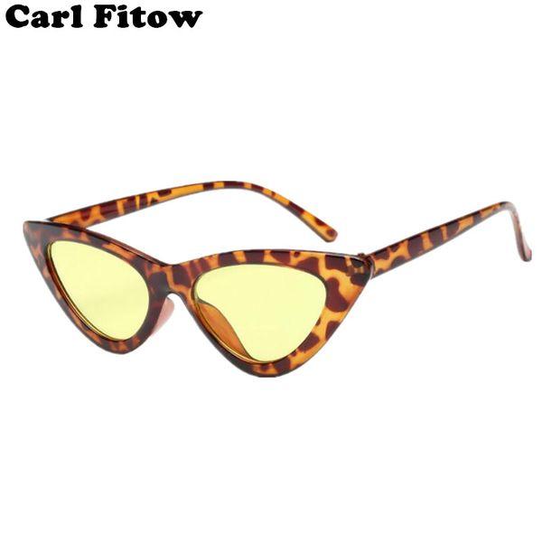 2018 new bonito retro cat eye sunglasses mulheres triângulo preto do vintage barato óculos de sol feminino uv400