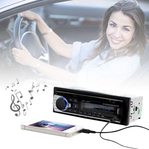 2PCS MP3 Bluetooth Car MP3 WMA WAV Player Remote Control Multimedia FM Receiver Radio Stereo Audio Music USB With Digital Screen