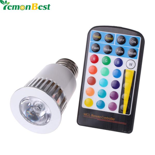 Lampada LED ad alta potenza RGB 5W E27 16 colori a 4 modalità dimmerabile con funzione di memoria