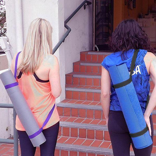 9 farben tragbare yoga matte schlinge sport leinwand gürtel fitness gym verstellbare träger schulter tragegurt