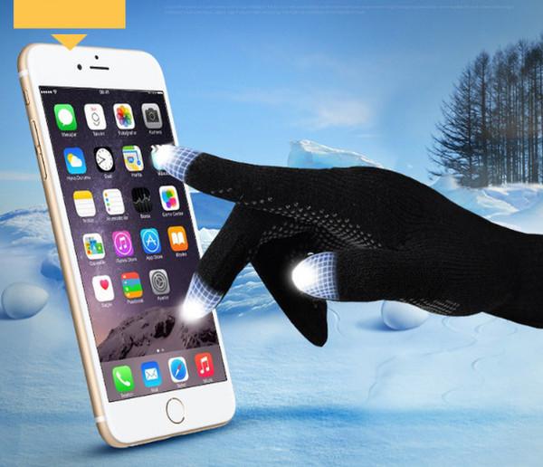 Rüzgar geçirmez Açık Spor için DHL Freeshipping Örgü Yün Dokunmatik Eldiven cep telefonu Dokunmatik Ekran Eldiven için smartphone