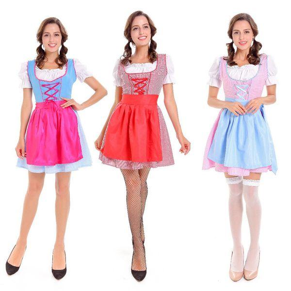 Doce e encantador estilo europeu e americano serviço de empregada de cerveja Halloween cosplay prom desempenho roupas jogo terno
