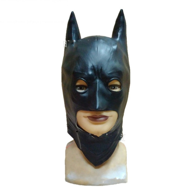 Vollgesichts Latex Batman Maskerade Eco Friendly Cosplay Halloween Requisiten Maske Realistische Film Party Supplies Kreative Masken 26hy jj