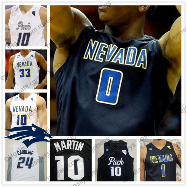 NCAA Nevada Wolf Pack #0 TreShawn Thurman 12 JoJo Anderson 21 Brown white black Stitched 2018 College Basketball Jerseys S-4XL