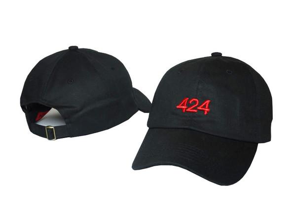 424 Dört iki dört ayarlanabilir kavisli snapback şapka yaz erkek kadın siyah kasketleri kap beyzbol şapkası avcılık şapka marka yeni 2018