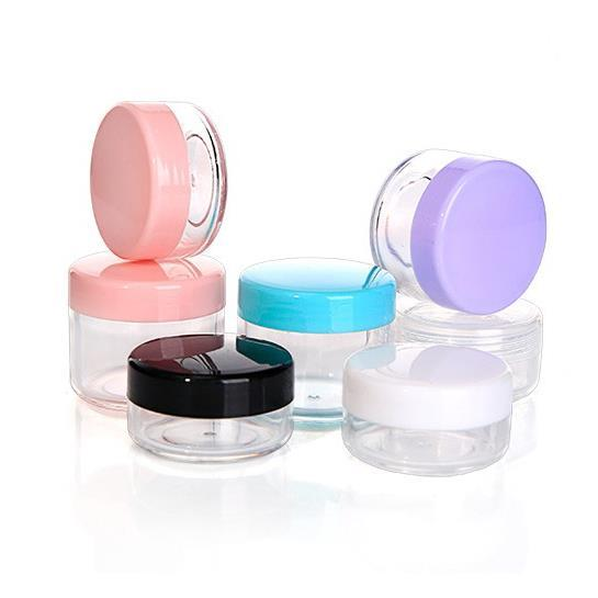 15g Jar 15ML Clear Empty Plastic Cosmetic Jars with Lids for Creams/Sample/Make-Up/Glitter Storage Refillable Eyshadow Cosmetic Sample