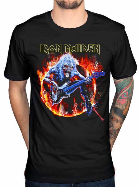 Camiseta Oficial Iron Maiden Fear Live Flames Camiseta Hermit Piece Of Mind Killers Vivo