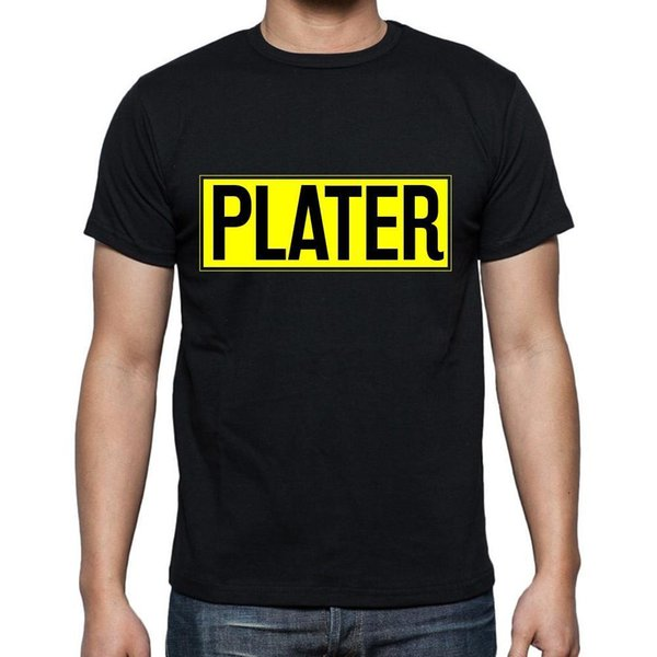 Plater t shirt, homme T-shirt, профессия, Нуар, Котон