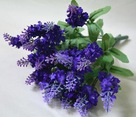 10pcs/lot Artificial Lavender Silk Flowers Bouquet Decorative Artificial Flowers for Wedding Party Home Decoration (no vase)