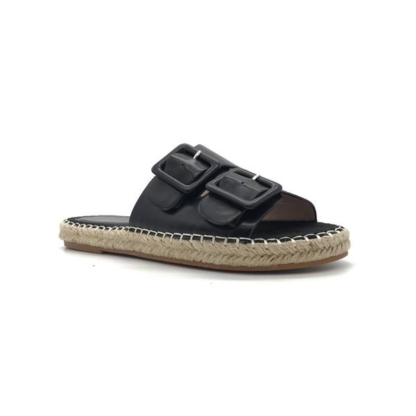 4b1b38d7308ff Fashion house slippers lady beach shoes with buckle women casual flat shoes  home slippers comfy slippers