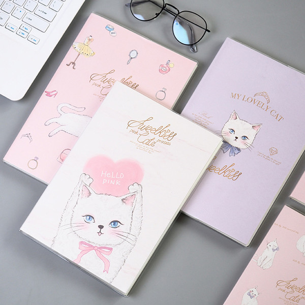Cute Kawaii Animal Cat Soft Covers NotCartoon Diary Planner Notepad for Kids Gift Korean Student Office School Stationery