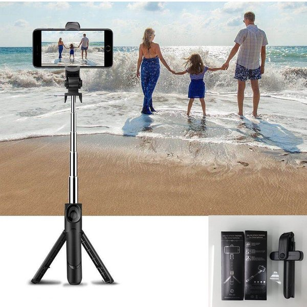 Foldable Mini Bluetooth Selfie Stick Tripod Selfie Monopods Handheld Extendable Mini travelling photo camera For iphone Samsung Smartphone .