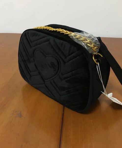 New VIP gift Fashion black chain makeup bag famous luxury party bag fashion shoulder bag good quality velvet handbag classic Collections
