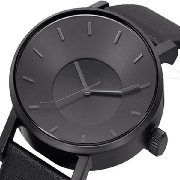 New Klasse luxury dress business watch pu black leather Three-dimensional dial quartz watches g m c montre maserati big bang wristwatch 1853
